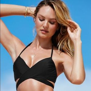 Victoria's Secret The Wrap Halter Black Bikini 34D